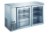 R290 UBB-24-60GSS stainless steel 2 door glass back bar cooler