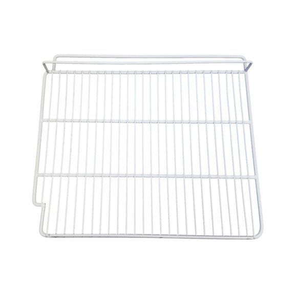 White Epoxy Coated Wire Shelf - Right Side - 21 1/2