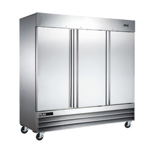 3-Door Stainless Steel Commercial Refrigerator