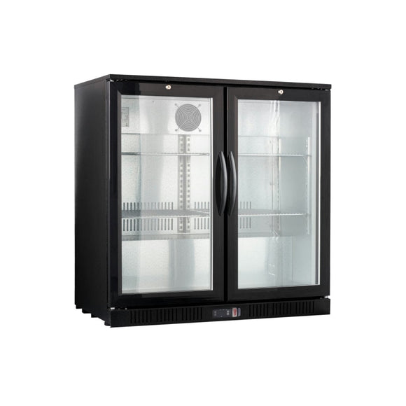 Double Glass Door Back Bar Cooler