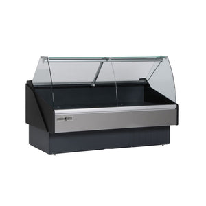 "HydraKool Curved Glass Tilt Front Deli Case - 52"", Deli Case  - Iron Mountain"