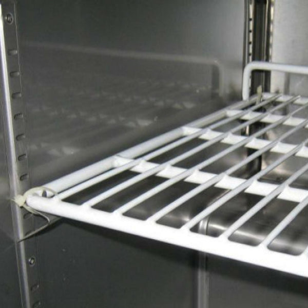 "71"" Stainless Steel Pizza Prep Table"