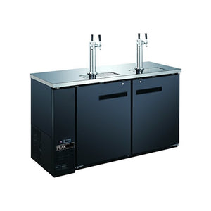 "60"" 2 Door 4 Tap Beer Dispenser - Kegerator"