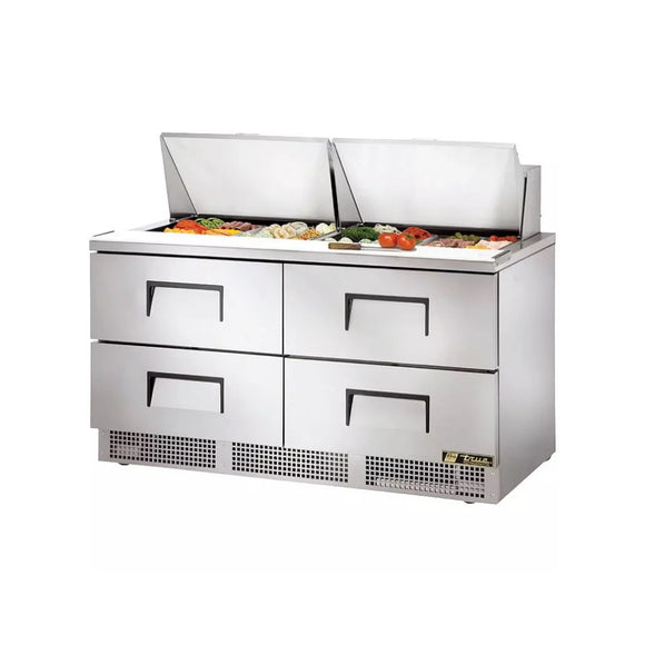 True TFP-64-24M Food Prep Table with 4 Drawers, Restaurant Prep Table  - Iron Mountain