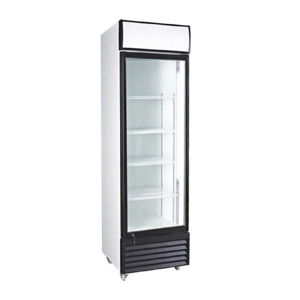 Single Door Upright Beverage Cooler- 12.7 CU Ft.
