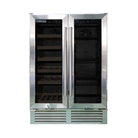 Procool Residential Dual Zone Under Bar Wine Cooler