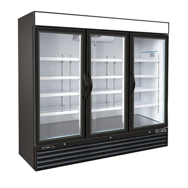 Kool-It 3 Glass Door Upright Commercial Display Freezer, Display Freezer  - Iron Mountain