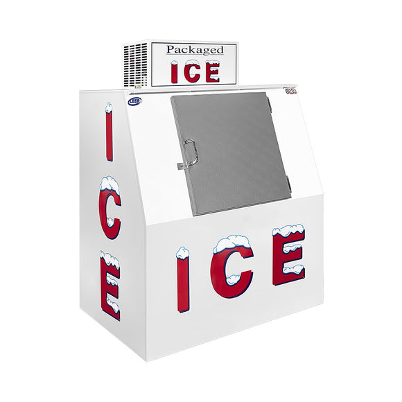 Leer Outdoor Slanted Ice Merchandiser - 40 Cu. Ft.