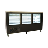 "Black Curved Glass 82"" Refrigerated Deli Case"