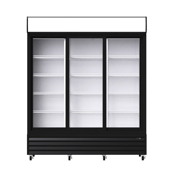 Procool Triple Sliding Door Upright Display Cooler, Display Cooler  - Iron Mountain