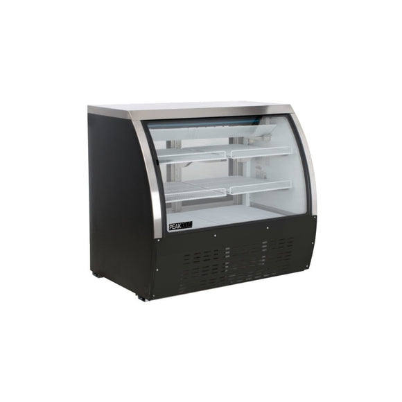 Small Curved Glass Refrigerated Deli Case - Black