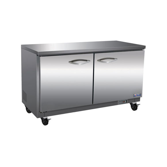 IKON Under-Counter Double Door Stainless Steel Freezer, Freezer  - Iron Mountain
