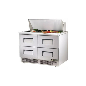 True TFP-48-18M Food Prep Table with 4 Drawers, Restaurant Prep Table  - Iron Mountain