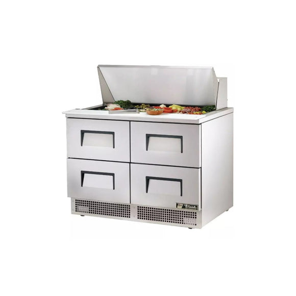 True TFP-48-18M Food Prep Table with 4 Drawers