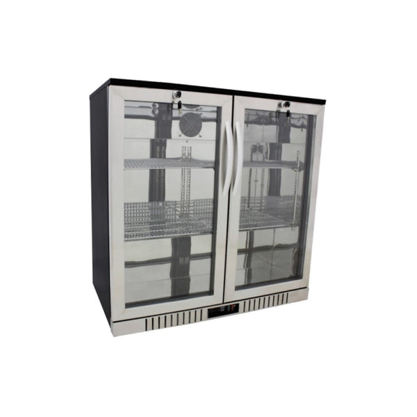 2-Door Stainless Steel Bar Cooler