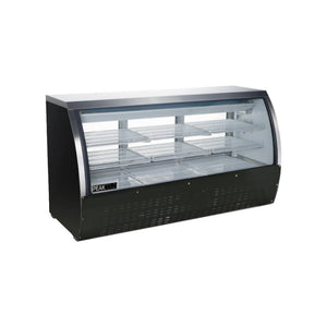 "Black Curved Glass 64"" Deli Showcase"