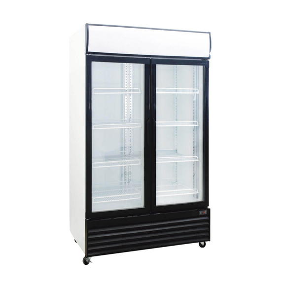 2-Door Upright Display Cooler, Display Cooler  - Iron Mountain