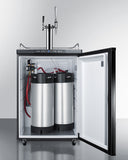 "Summit 24"" Wide Coffee Kegerator, Beer Dispenser  - Iron Mountain"