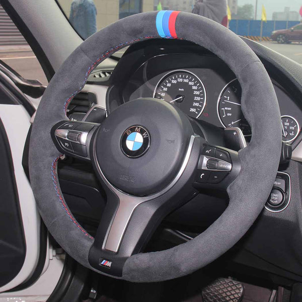 Custom Alcantara Steering Wheel Cover for BMW