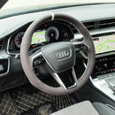 Custom Alcantara Steering Wheel Cover for Audi