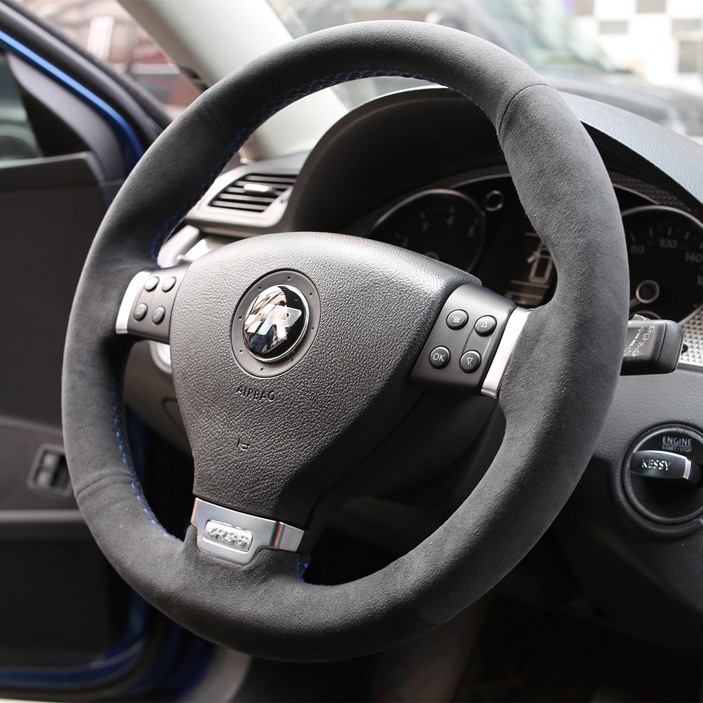 Custom Alcantara Steering Wheel Cover for VW