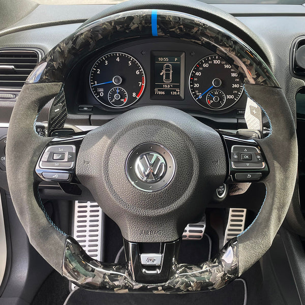 Carbon Fiber Golf MK6 R/GTI Steering Wheel
