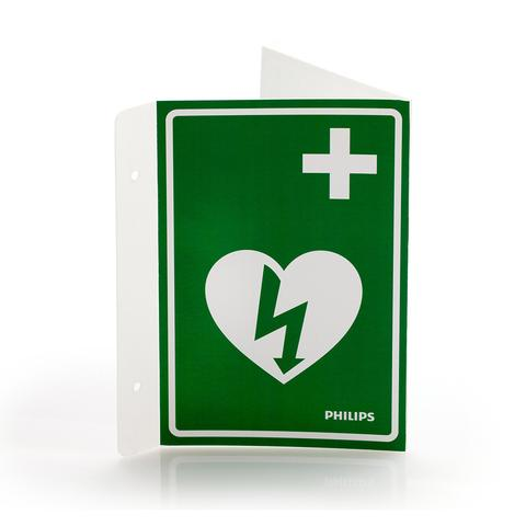 Philips Flexible AED Wall Sign - Green