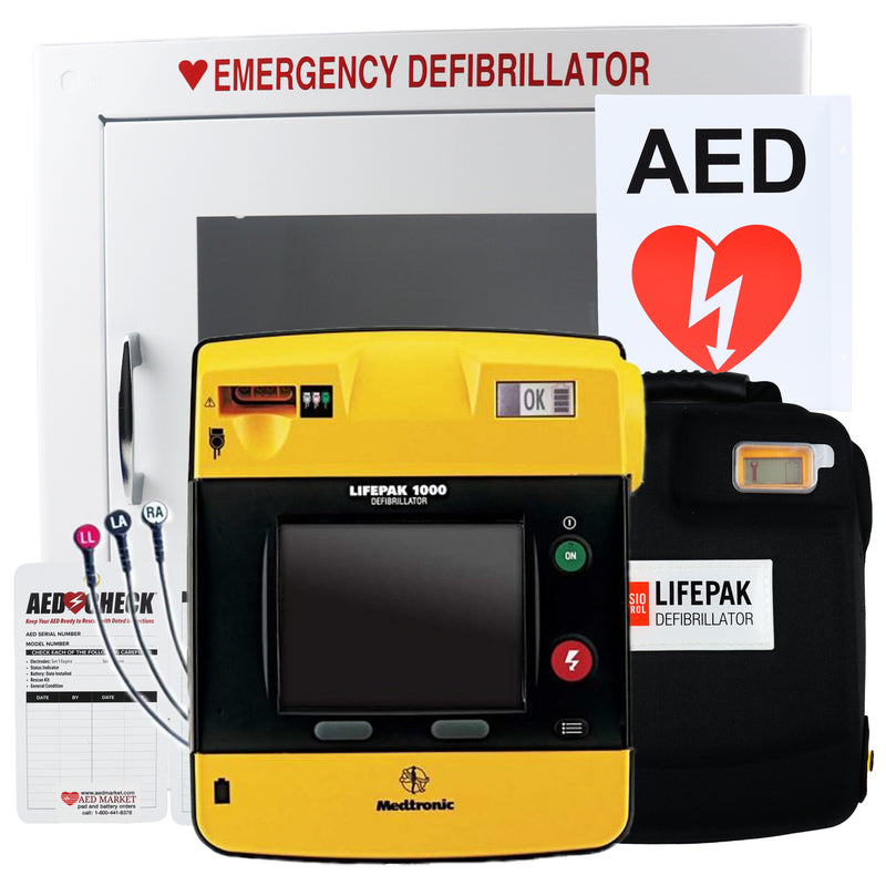 Physio Control Lifepak 1000 AED ECD Display Recertified Package