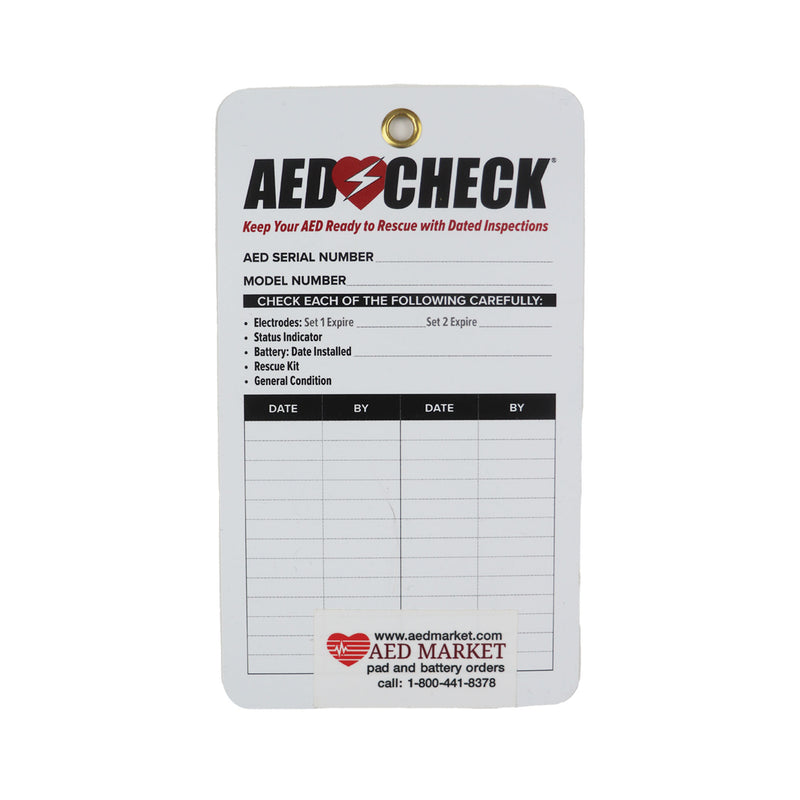 AED Check Tag