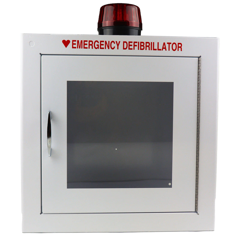 Alarmed AED Wall Cabinet With Strobe Light