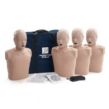 PRESTAN CHILD / PEDIATRIC CPR MANIKIN W/O MONITOR - 4 PACK - MEDIUM SKIN