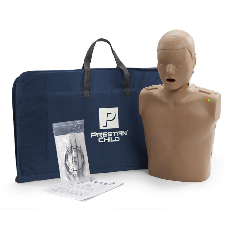 PRESTAN CHILD / PEDIATRIC CPR MANIKIN W/ MONITOR - DARK SKIN