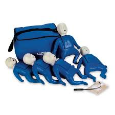 CPR PROMPT 5-PACK INFANT / BABY TRAINING MANIKIN - BLUE
