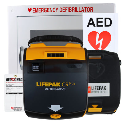 Physio Control Lifepak CR Plus Church AED Package - Recertified