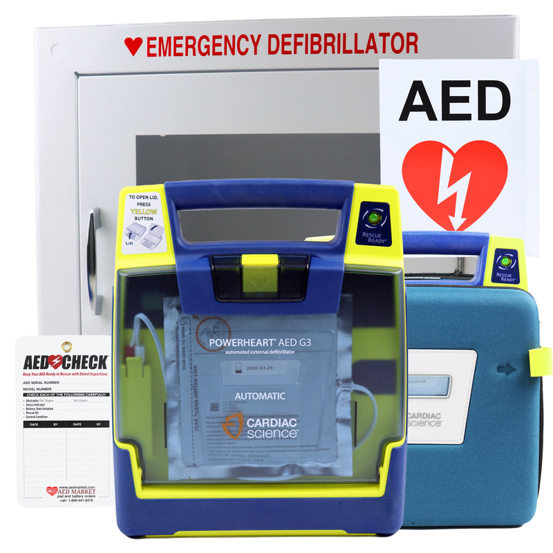 Cardiac Science Powerheart G3 Recertified AED Package