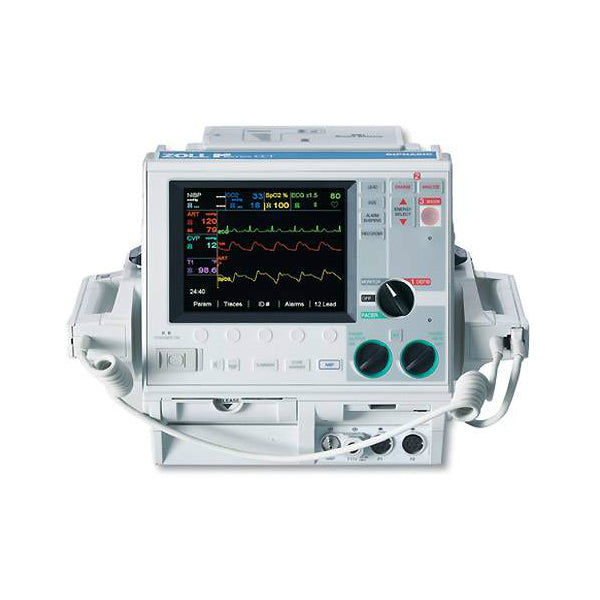 Zoll M Series CCT, 3 Lead, Biphasic, Pacing, Spo2, NIBP, Etco2, IBP, Temp, AED