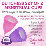 Dutchess Menstrual Cups Set of 2 with Free Bag (PRE-Childbirth / C-Section)