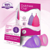 Dutchess Menstrual Cups Set of 2 with Free Bag (POST-Childbirth)