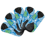 Dutchess Reusable Sanitary Panty Liners - MEDIUM FLOW - Bamboo 5x (Blue Spiral)