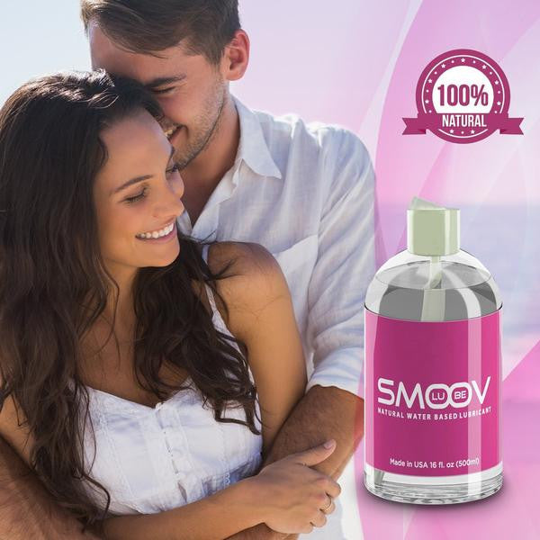 SMOOVlube PINK Lubricant - Personal Lube for Men and Women - Natural Waterbased Liquid Silk - Ideal Vaginal Moisturizers