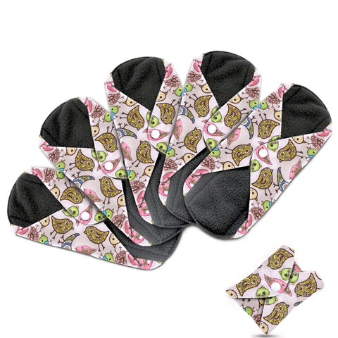Dutchess Cloth Menstrual Pads - Bamboo Reusable Sanitary Napkins Heavy Flow (Overnight)