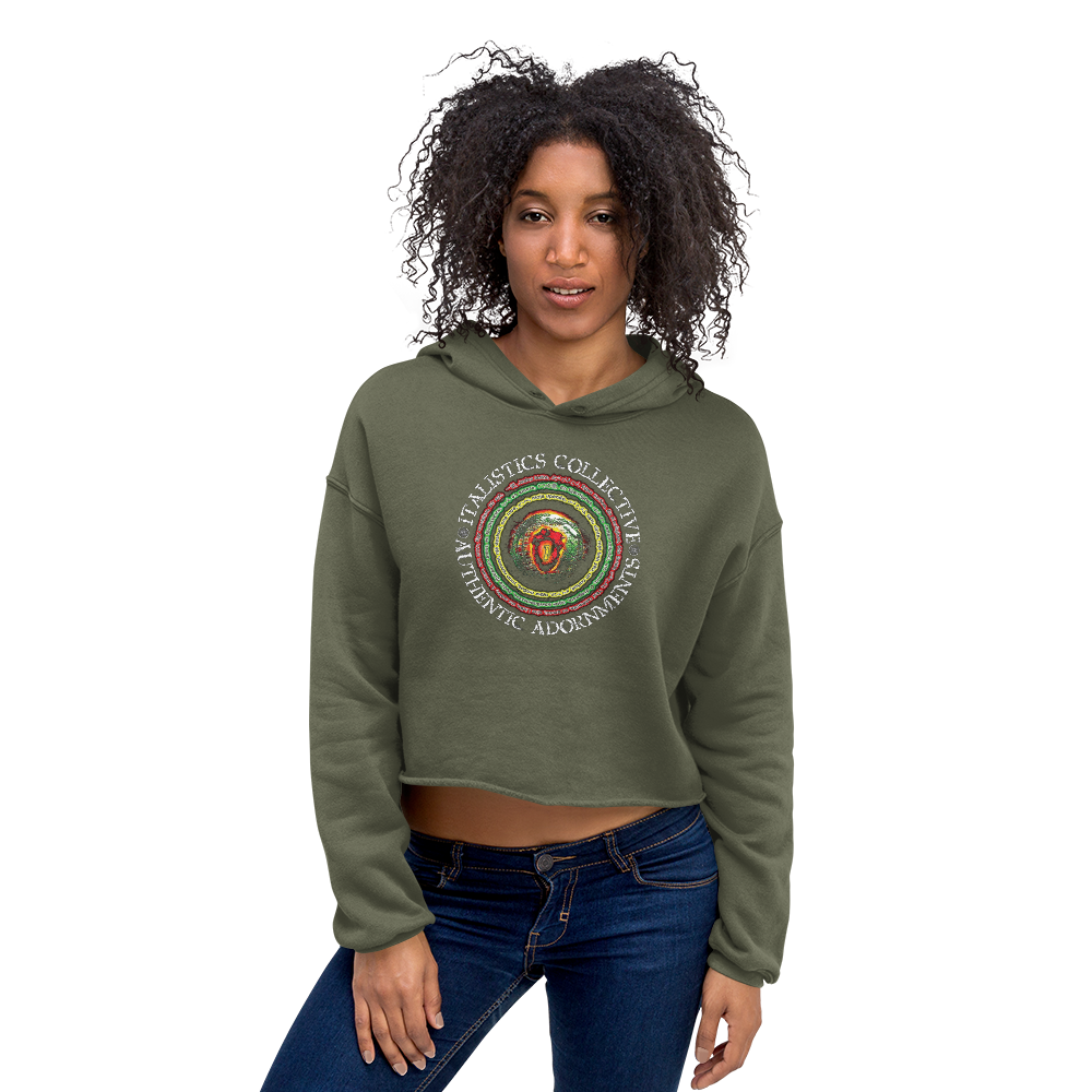 One Love / Universal Brand : Ladies Crop Hoodie Sweatshirt