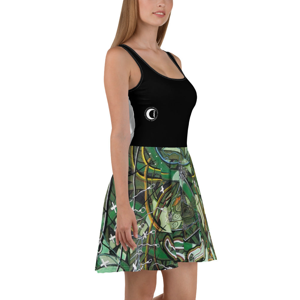 Divine Sound Healings : Italistics Collective's Ladies Skater Dress
