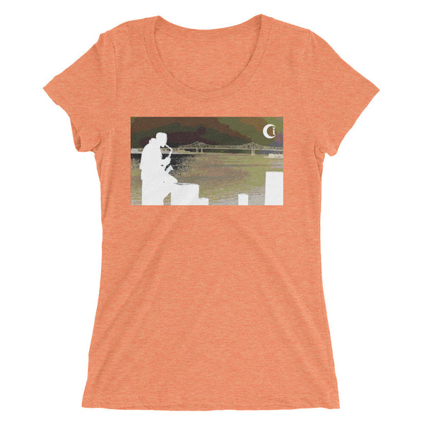 Blow your Horn NOLA • Ladies' Short Sleeve T-Shirt(form fitting)