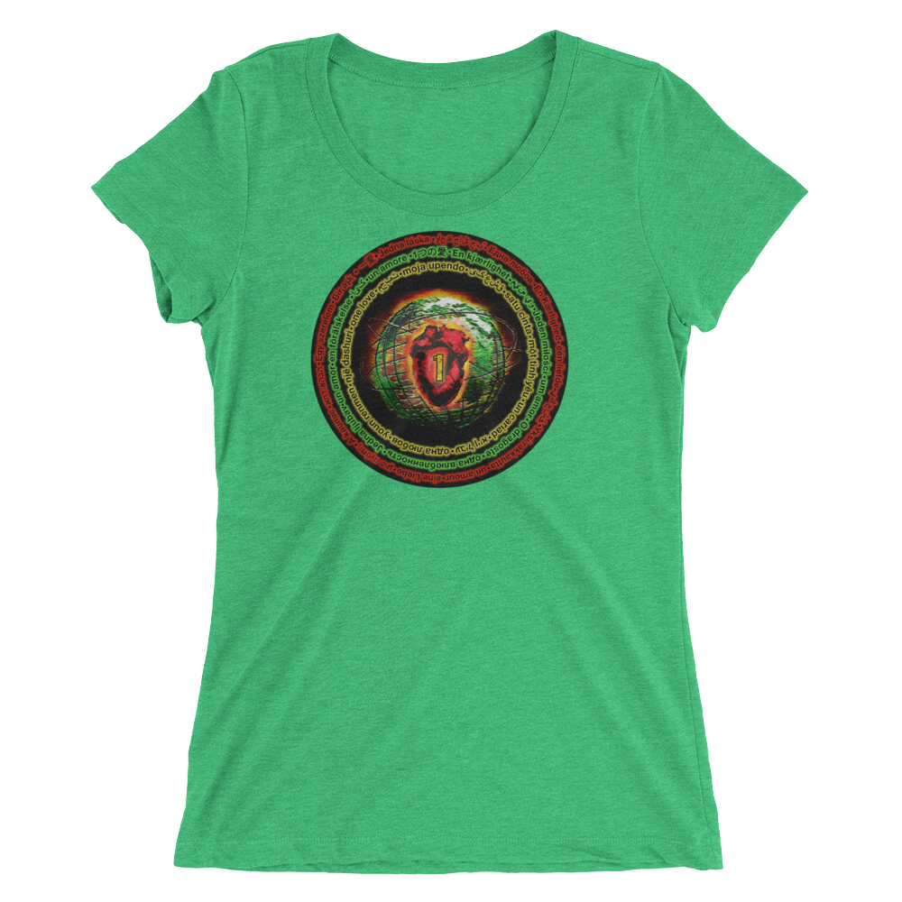 Ital •1 Love • Ladies' Short Sleeve T-Shirt (form-fitting)