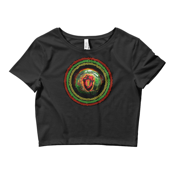 Ital •1 Love •  Ladies' Crop Tee