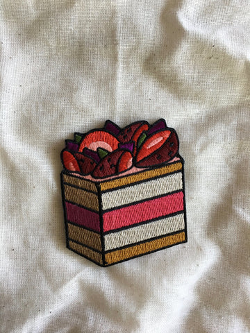 Black Star Pastry Watermelon Cake Embroidered Patch