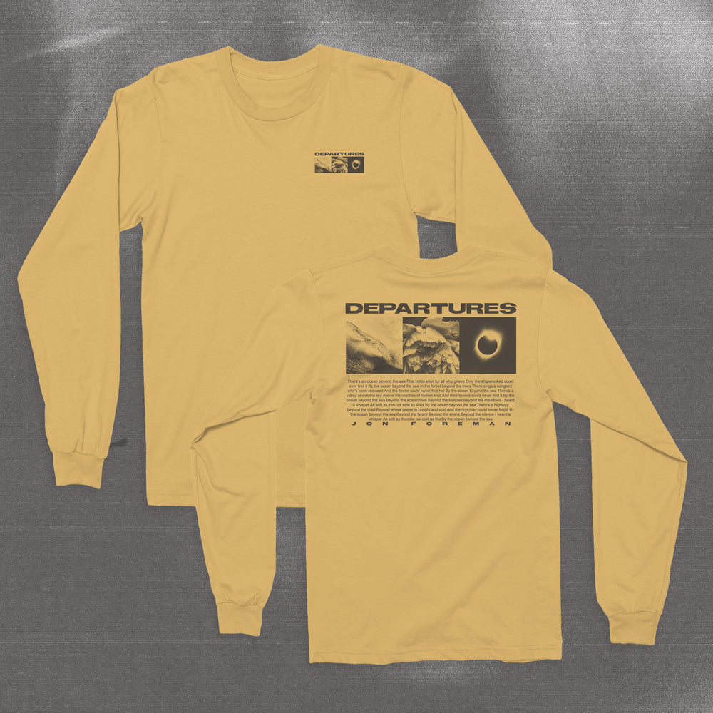 Departures Gold Long Sleeve Tee