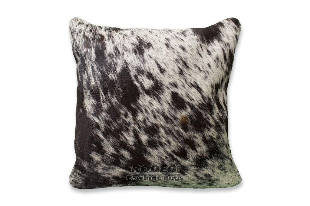 Salt And Pepper Cowhide Pillow Case Rodeo Cowhide Rugs