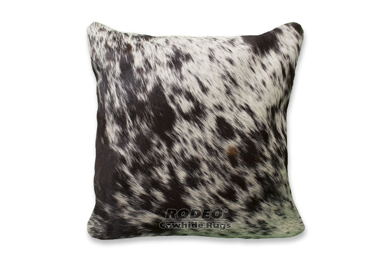 Salt and Pepper  Cowhide Pillow Case - Rodeo Cowhide Rugs